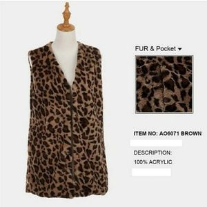 Uniquely design cheetah print poncho